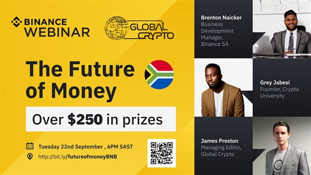 Interested in crypto trading? Attend the Binance webinar on 'The Future of Money'